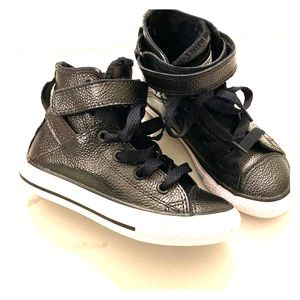 Converse kids leather high tops